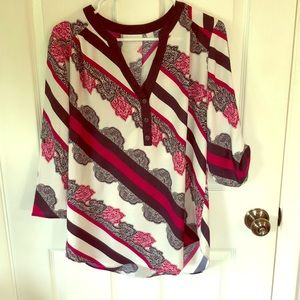 New York & Company, 3/4 length sleeves, blouse.
